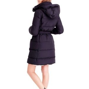 J Crew Wintress belted down puffer